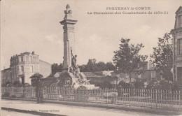 Thématiques 85 Vendée Fontenay Le Comte Le Monument Des Combattants De 1870 71 Ecrite 09 09 1919 - Fontenay Le Comte