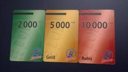 Central African Republic  Libertury-(3cards)-(2.000,5.000,10.000fcfa)-used Card+2card Prepiad Free - Repubblica Centroafricana