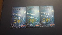 Central African Republic  Libertury-(3card)-(1000,2000,10.000fcfa)+1card Prepiad Free - Repubblica Centroafricana