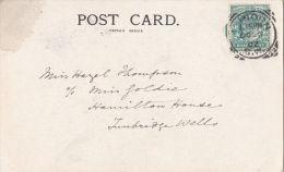 POSTAL HISTORY -1902 SQUARED CIRCLE - LONDON. - Postmark Collection