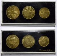 """Monaco Coffret ESSAI 10 + 20 + 50 Centimes 1962 FDC """" Original Box - Uncirculated"""