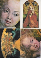 16 / 3  / 73  -  22-  CPM  ( Grd. Mod. )  - PEINTURES  MARTIN  SCHONGAUER - LA  VIERGE  ET  L'ENFANT   &  DÉTAILS - Cartes Postales