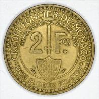 Monaco 2 Francs 1924 GOOD  GRADE # 1 - Monaco