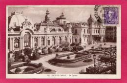 MONACO MONTE-CARLO, Le Casino, Animée, 1933, (La Cigogne, Monaco) - Monte-Carlo