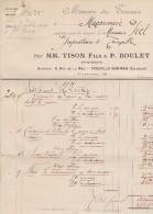 139...14...trouville Sur Mer    ...TISON BOULET     Entrepreneurs - 1900 – 1949