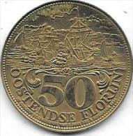 50 OOSTENDSE FLORIJN 1706-1981 SLAG VAN OOSTENDE - Jetons De Communes