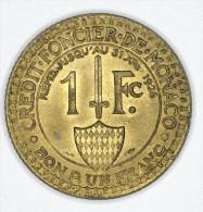 Monaco 1 Franc 1924 UNC # 1 - Monaco