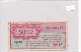 Billets-B1972-Billet Certificat  Paiement Militaire USA  50 Cents RARE  ( Type, Nature, Valeur, état... Voir 2 Scans) - 1945-1949: Alliierte Besatzung