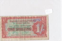 Billets-B1971-Billet Certificat  Paiement Militaire UK - 1 Shilling RARE  ( Type, Nature, Valeur, état... Voir 2 Scans) - [ 5] 1945-1949 : Bezetting Door De Geallieerden