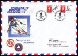 France Albertville 1992 Olympic Games Albertville 1992 Greetings Mail Ski Jumping Alpine Skiing - Hiver 1992: Albertville