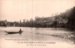 19 LES BEAUX SITES DE LA CORREZE LES RIVES DE LA DORDOGNE PAS CIRCULEE - Francia