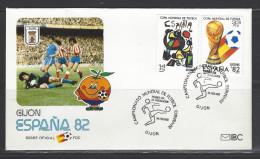 SPANIEN - FDC Mi-Nr. 2532 - 2533 Fußballweltmeisterschaft 1982 Sonderstempel GIJON - FDC