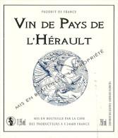 34 SAINT GEORGES D ORQUES ETIQUETTE PUBLICITE  METIER VIN VIGNERON CHEVALIER GEORGES - Etiquettes
