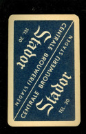 Speelkaart ( 021 ) Dos D' Une Carte à Jouer Bier Bière Bieren Bières Brasserie Brouwerij - Stador  Staden - Barajas De Naipe