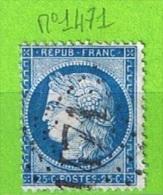 OBLIT GC N°1471 FAVERGES - HAUTE SAVOIE - 1849-1876: Période Classique