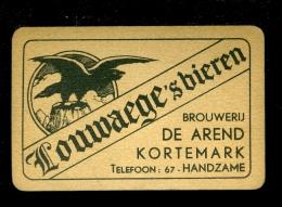Speelkaart ( 027 ) Dos D´ Une Carte à Jouer Bier Bière Bieren Bières Brasserie Brouwerij -  Kortemark - Barajas De Naipe