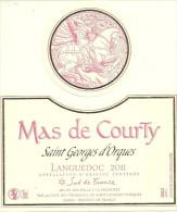 34 SAINT GEORGES D ORQUES ETIQUETTE PUBLICITE MAS DE COURTY METIER VIN VIGNERON CHEVALIER GEORGES - Etiquettes