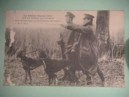 Chiens Dressés Pour La Transmission Des Ordres  Guerre 1914 Sur Le Front Près D'Arras - Guerre 1914-18