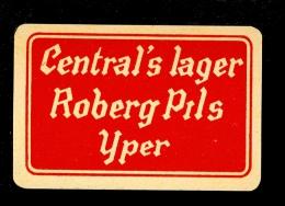 Speelkaart ( 029 ) Dos D´ Une Carte à Jouer Bier Bière Bieren Bières Brasserie Brouwerij - Ypres  Ieper - Barajas De Naipe