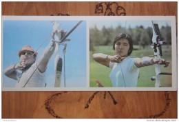 Old Postcard - ARCHERY - USSR OLIMPIC CHAMPIONS  -  1979 ARCH - ARCHER - Tir à L'Arc