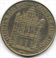 50 KAROLUS 980-1980 GOSSELIES - Gemeentepenningen