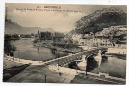 GRENOBLE - Pont De La Porte De France, L'Isère Et Le Casque De Néron (1307 M).n°109 éd Baffert....à Saisir - Grenoble