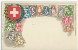 SUISSE - CARTE SOUVENIR Des TIMBRES SUISSES VOYAGEE En 1928 De PRAGUE - Briefe U. Dokumente