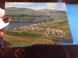 Faroe-Islands--View-of-Eysturoy-Island-Postcard Village On North Eystroy En L état 1975 - Féroé (Iles)