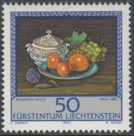 Liechtenstein 1990 Paintings By Benjamin Steck: Terrine, Oranges, Grapes. Part Set Mi 990 MNH - Liechtenstein