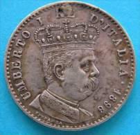 Umberto I Colonia Eritrea 1 Lira  1896 Argento R2 - 1861-1946 : Regno