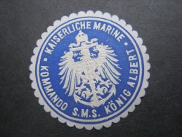 Kaiserliche Marine - Kommando ... ,  Briefverschlussvignette Um 1914 , Original ! , Ca. 4 Cm Durchmesser - Deutschland