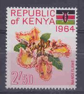 Kenya 1964 Definitive / Flowers 1v ** Mnh (27449) - Kenia (1963-...)