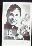 CHINA CHINE CINA CHINESE FAMOUS MOVIE ACTOR  QIN YI秦怡  PHOTO 60MM X84MM - 1949 - ... Repubblica Popolare