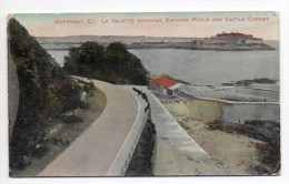 GUERNSEY - LA VALETTE - SHOWING BATHING POOLS AND CASTLE CORNET - Guernsey