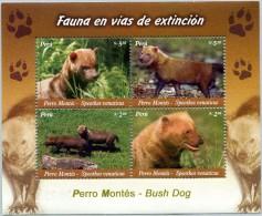 N° Yvert & Tellier 41 - Bloc Feuillet Du Pérou (2007) - MNH - Chiens Sauvages (JS) (Recto-Verso) - Peru