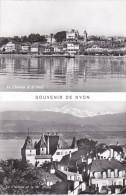 Suiza--Vaud--Nyon--Le Chateau Et Le Port--Le Chateau Et Le Mt.Blanc-- - Castillos