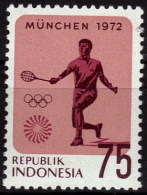 INDONESIE  N° 638  * *  ( Cote 3e ) Jo 1972 Tennis - Tennis
