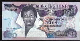 GHANA : Banconota  100 Cedis - 1986- P26a - UNC - Ghana