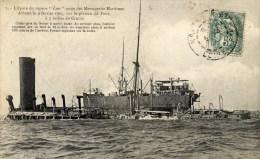"""44 LE CROISIC Epave Cargo """"Laos"""" Messageries Maritimes échoué 9 Fév.1907 - Le Croisic"""
