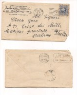 6270 1940 USA 5c Louisa May Alcott Isolato To Italy Cover - Etats-Unis