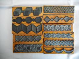 Tampons Caoutchouc Motifs Géométriques , Décoration , Coloriage , Mathématiques - Andere