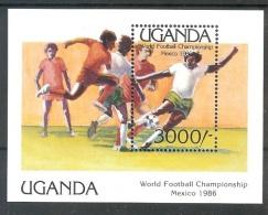 UGANDA  World Cups-86(soccer)  S/Sheet  MNH - World Cup
