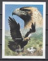 Ghana 1V In Block,bird Of Prey,roofvogel,birds,vogels,vögel,oiseaux,pajaros,aves,,MNH/Postfris(L2203) - Non Classés