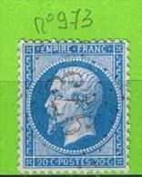 OBLIT GC N°973 CHAUDESAIGUES - CANTAL - Marcophilie (Timbres Détachés)