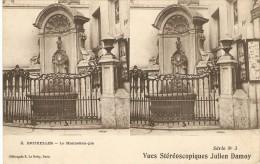 CPA Stéréoscopique Belgique - Bruxelles - Manneken-pis - 1900? - Cartes Stéréoscopiques