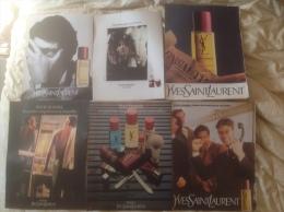 Pub Presse Parfum - Yves Saint-Laurent, Pour Homme X 6 Différentes - Advertisings (gazettes)