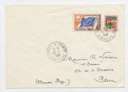 FRANCE -  SERVICE - N° Yvert  17+1230A SUR LETTRE DU 20/1/1961 DE STRASBOURG - Lettres & Documents