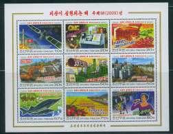 NORTH KOREA 2009 COMMUNIST INDUSTRY SHEETLET - Sciences