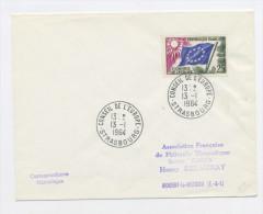 FRANCE -  SERVICE - N° Yvert 28 SUR LETTRE DU 13/1/1964 DE STRASBOURG - Lettres & Documents