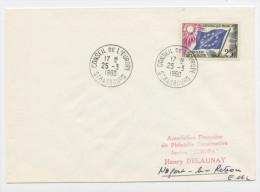 FRANCE -  SERVICE - N° Yvert 19 SUR LETTRE DU 25/3/1960 DE STRASBOURG - Lettres & Documents
